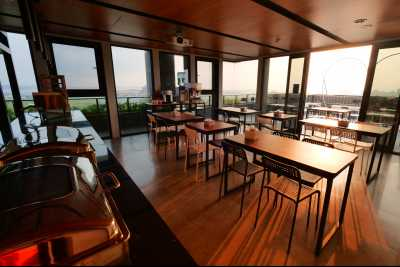Wuhu Anbo Hotel, the top floor of the Starry Sky Hall, overlooks the Magong City VCR