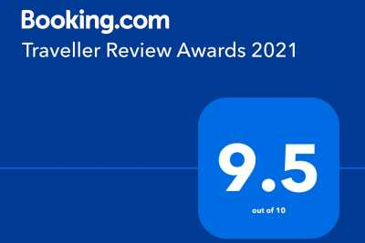 Won the Booking Traveller Review Awards 2021